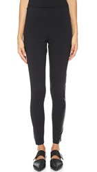 Norma Kamali Side Stripe Leggings Black Black Foil