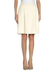 Max And Co. Knee Length Skirts Ivory