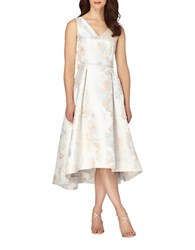 Tahari By Arthur S. Levine Sleeveless Belted A Line Dress Silver Multi