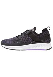 Puma Ignite Evoknit Neutral Running Shoes Black Electric Purple Quiet Shade