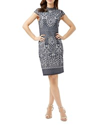 Phase Eight Fran Lace Dress Navy Cream