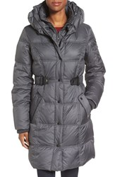 Larry Levine Women's Quilted Down And Feather Fill Coat Steel