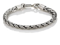 Caputo And Co. Sterling Silver Spiga Chain Bracelet