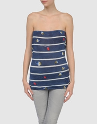 Lafty Lie Tube Tops Blue