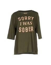 Vintage 55 T Shirts Military Green