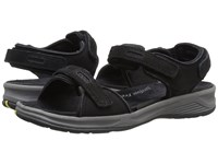 Drew Shoe Cascade Black Nubuck Women's Sandals