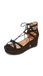 Aquazzura Beverly Hills Flatform Sandals Black