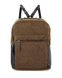 Kelsi Dagger Southside Faux Shearling Backpack Olive