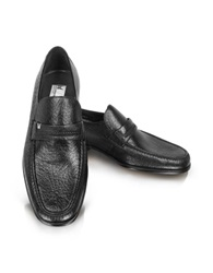 Moreschi Amburgo Buckle Black Loafer Shoes