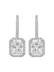 Mikey Sterling Silver 925 Hoop Square Earring N A N A