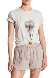 Sincerely Jules Oui Heart Front Graphic Print Tee White