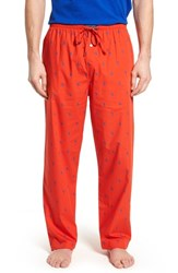 Ralph Lauren Men's Polo Cotton Lounge Pants Bright Poppy Sapphire Star