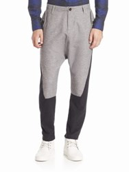 Mostly Heard Rarely Seen Two Tone Cotton Pants Heather Grey