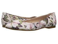 Bcbgeneration Millie Chalk Watercolor Flower Smooth Nappa Women's Shoes White