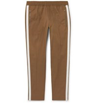 Stella Mccartney Brown Striped Cotton Twill Drawstring Trousers Brown