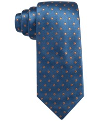Countess Mara Toledo Dot Tie Navy Orange