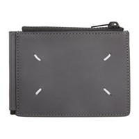 Maison Martin Margiela Grey Leather Clip Bifold Wallet