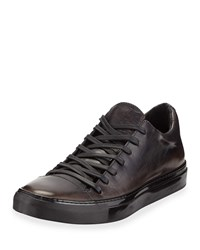 John Varvatos Reed Low Top Leather Sneakers Gray