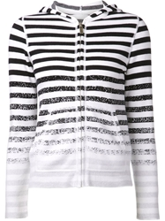 Lucien Pellat Finet Striped Cardigan White