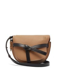 Loewe Gate Small Grained Leather Cross Body Bag Brown Multi