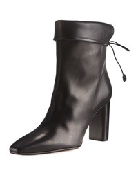 The Row Emil Leather Tie Back Boot Black
