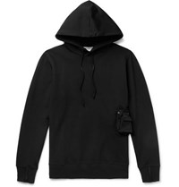 Alyx Loopback Jersey Hoodie With Detachable Shell Pouch Black