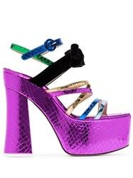 Attico Multicoloured Bibbi Greta Platform Heels 021 Multicoloured
