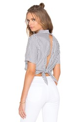 Kendall Kylie Open Back Top White