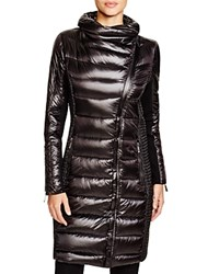 Bcbgmaxazria Long Quilted Asymmetric Coat Black