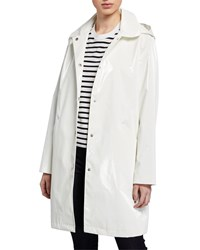 Jane Post Raincoat Trench W Removable Hood White