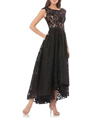 Js Collections Hi Lo Lace Gown Black Nude