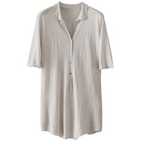 Poetry Linen Tunic Pearl Grey
