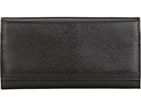 Valextra Women's Large Wallet With Card Case Black