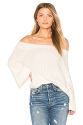 525 America Off Shoulder Tulip Sweater Ivory