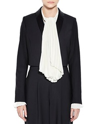 Pink Tartan Cropped Tux Jacket Black