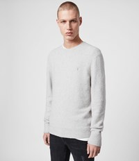 Allsaints Tolnar Crew Sweater Light Grey Marl