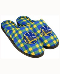 Forever Collectibles Golden State Warriors Flannel Slide Slippers
