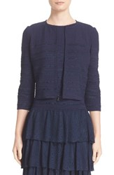 St. John Women's Collection Embossed Island Knit Cardigan