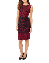 Phase Eight Leora Leaf Print Dress Black Red