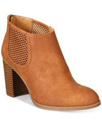 Styleandco. Style Co. Lanaa Perforated Booties Only At Macy's Women's Shoes Coffee