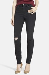 Madewell Women's 'High Riser Skinny Skinny' Cut Edge Jeans Black Sea