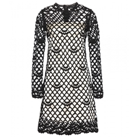 Marc Jacobs Guipure Overlay Dress Ivory