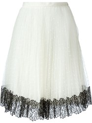 Red Valentino Lace Skirt White