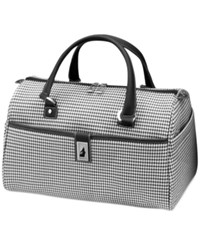 London Fog Cambridge 16' Satchel Black White Houndstooth