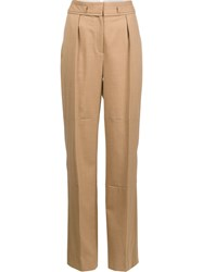 Maiyet High Rise Wide Legged Trousers Brown