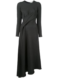 Edeline Lee Twist Front Dress Black