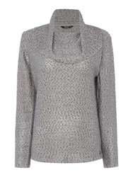 Tigi Long Sleeve Cowl Neck Jumper Grey