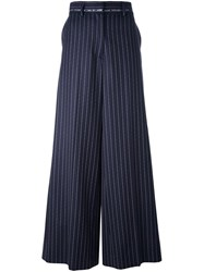 Alyx Flared Pinstripe Trousers Blue