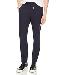 Sandro Alpha Slim Fit Jogger Trousers 100 Exclusive Navy Blue