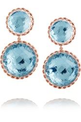 Larkspur And Hawk Olivia Convertible Rose Gold Dipped Topaz Earrings